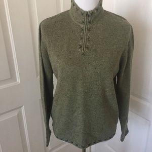 Woolrich Willow Heather Green Wool Blend Sweater
